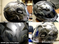 Fish on helmet - Airbrush Artwoks