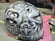 Airbrush art helmet by Julio Sapere   Ahahah!Awesome! - Favorite Art