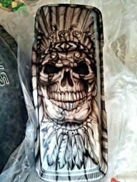 Indian Skull Chief by Julio Sapere - Kustom Airbrush