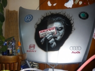 airbrushed hood - Airbrush Artwoks