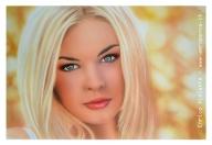 airbrush blonde woman, cm.40x60 on schoeller.e'tac color marissa series. - Airbrush Artwoks