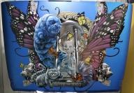 House of Kolor, 2015 Jeep Wrangler hood.  Alice in Wonderland theme. - Rides
