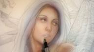 """Moonrise"" with Heavy Metal artist Michael Calandra  - Airbrush Videos"