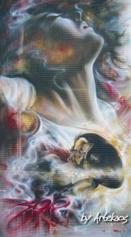 Airbrush on metal - 300 Tribute... by ArteKaos - ArteKaos Art
