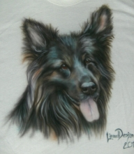 Deutscher Schäferhund Portrait - Airbrush Portraits - Airbrush Bilder - Lizardairbrush.de - Favorite Art