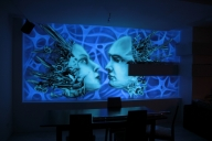 Black light mural, biomechanika - Mural