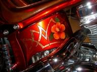 Airbrush and gold leaf, custom on Harley - Airbrush Artwoks