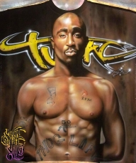 2Pac Airbrush T-Shirt by PrimoOne - Top Airbrush Artwork on the Web