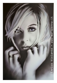 monochrome portrait on schoeller cm. 40x60 - Airbrush Artwoks