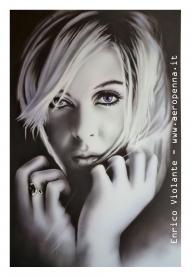 monochrome portrait on schoeller cm. 40x60 - Airbrush Artwoks