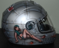 Pinup Girl Old School Military Helmet - Airbrush Artwoks
