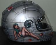 Pinup Girl Old School Military Helmet - Airbrush Artwoks