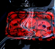 skulls on motorcycle - AADesign Kustom Airbrush