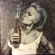 Airbrush painting on canvas - Airbrush Artwoks