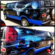 Custom Van Artwork - Star Trek Cars - Airbrush Artwoks