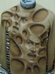 Airbrush Artwork on T shirt by tauart - Airbrush Artwoks