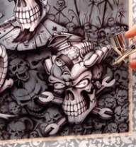Iwata Medea Airbrush | Resources | How-To: Wrath of the Skullmaster - Creative Learning