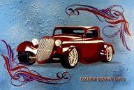 Hot Rod Pinstriping Panel - Pinstriping  - Airbrush Artwoks