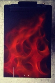 Flames - Airbrushed