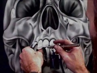 ▶ Airbrushing a Chrome Skull-Stage 2  - Airbrush Videos