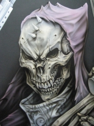 Airbrush Skeleton gun cabinet by Jonny5nLala - Favorite Art