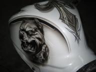 Pitbull tank for gixxer 4 by Jonny5nLala - Airbrush Artwoks