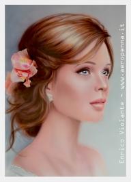 """ritratto stile """"classico"""", cm.40x60 su cartoncino pesante - Airbrush Artwoks"""