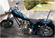 airbrush custom paint - Chopper American IronHorse 1800 Batman  The Dark Knight