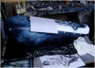 airbrus custom paint - Chopper American IronHorse 1800 Batman  The Dark Knight