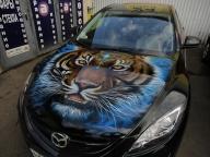 Mazda Airbrush Bonnet - Aerografia su Gomme
