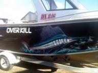 Overkill Boat | Airbrush Art | Professional Air Brush Artist in Perth, WA - Airbrush Artwoks