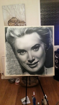 Grace Kelly Airbrush Portrait by maffikus - Fotorealismo