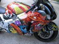Suzuki custom paint - Airbrush Artwoks