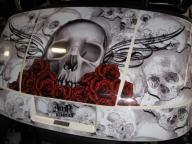 Cartaholics Golf Cart Forum - Bone Collector - Airbrush Artwoks