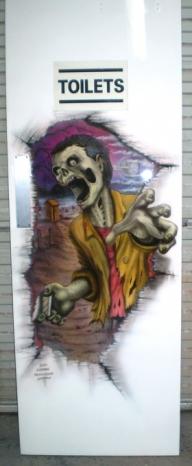 Toilet door Zombie - Airbrush Artwoks