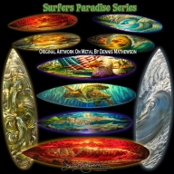 #FuriousAirbrush #RSS Feeds | Metal artist Dennis #Mathewson Surfboard metal art released - FuriousAirbrush RSS Stories