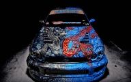 Hintergrund Subaru, Airbrush Fisch - Airbrush Artwoks