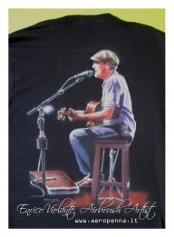 james taylor tribute, airbrush t-shirt - Airbrush Artwoks