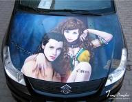 Airbrush Car Painting By Dongbai Tang   Cool 3D Magic Murals Painting - Airbrush Art