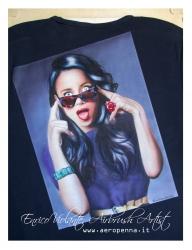 katy perry on t-shirt... - Airbrush Artwoks
