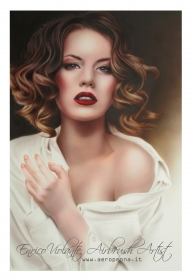 portrait on cardboard - Airbrush Artwoks