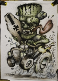 Airbrushed T-Shirt | Pinstriping by Mr.BramPinstriping by Mr.Bram - Airbrush Artwoks
