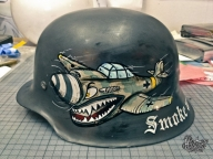 German WW2 Helmet | Pinstriping by Mr.BramPinstriping by Mr.Bram - Airbrush Artwoks