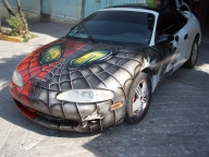 Spider car - airbrush okami by OKAMIAIRBRUSH - Kustom Airbrush