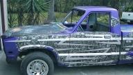 Bio mech on Mazda truck - Kustom Airbrush