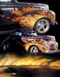 Lamar's 40 Ford - Airbrush Artwoks