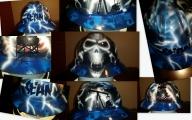 Skulls, flags and Oil #zimmerdesignz - Hard Hats