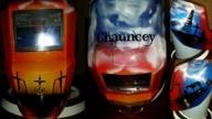 Custom painted Christian welding helmet - My Designs