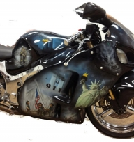 911- Hurricane Katrina tribute bike - Custom Paint Motorcycles
