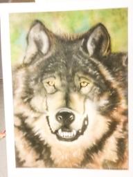 Wolf 16x20 on Carson board - Basepaint